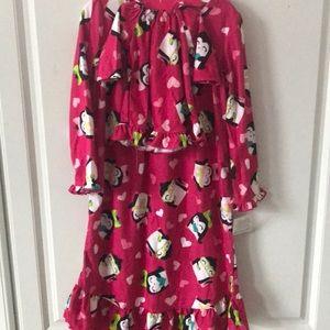 Girls long sleeve nightgown